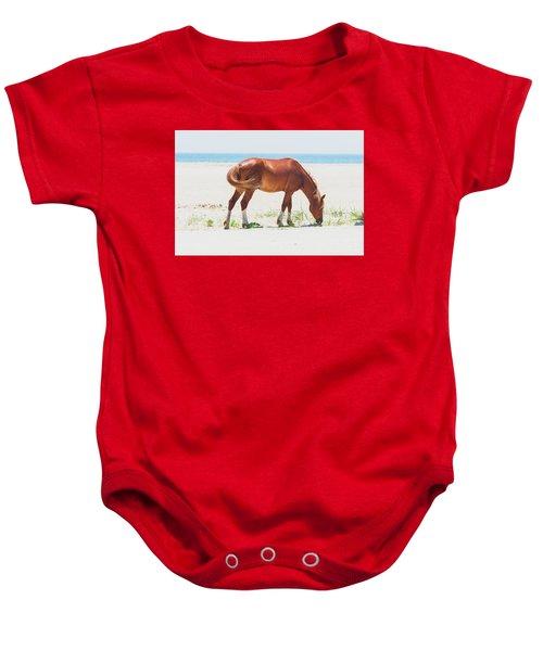 Horse On Beach Baby Onesie