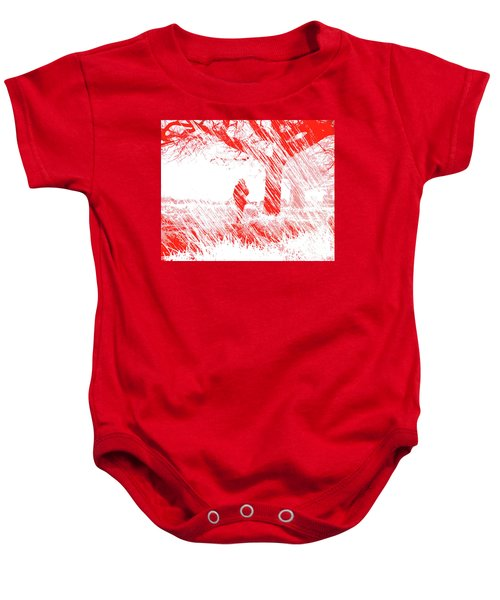 Icy Shards Fall On Setttled Snow Baby Onesie