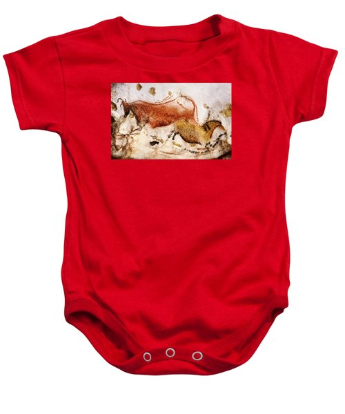 Lascaux Cow And Horse Baby Onesie