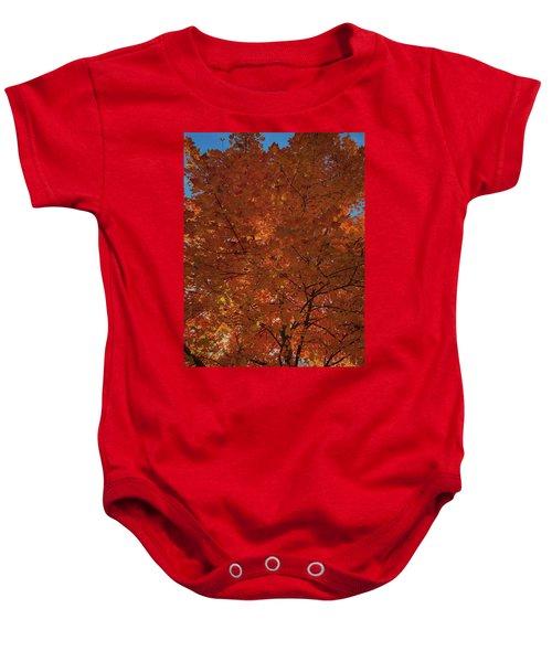 Leaves Of Fire Baby Onesie
