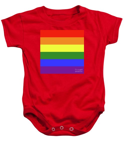 Lgbt 6 Color Rainbow Flag Baby Onesie