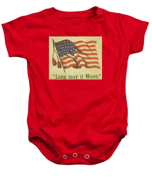 Long May It Wave Baby Onesie