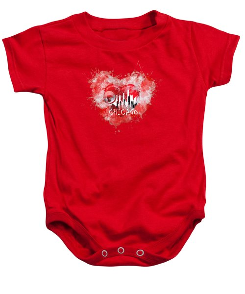 Love Chicago Colors Baby Onesie