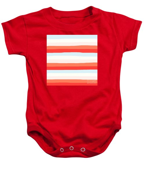 lumpy or bumpy lines abstract and colorful - QAB268 Baby Onesie