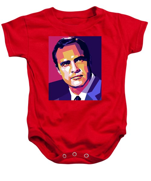 Marlon Brando Illustration Baby Onesie