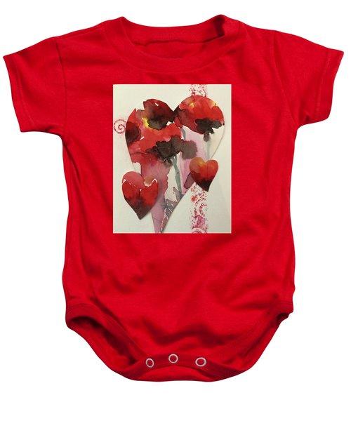 My Valentine Four Baby Onesie