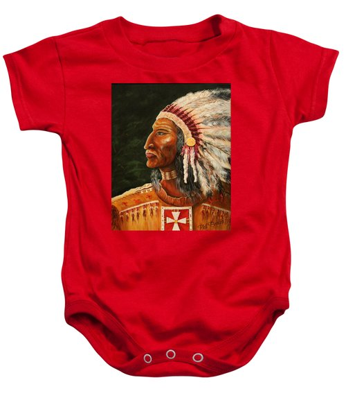 Native American Indian Chief Baby Onesie