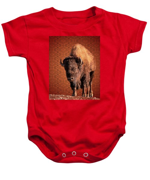 Baby Onesie featuring the photograph Native by Mary Hone