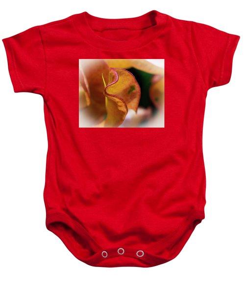 Orange Croton Baby Onesie
