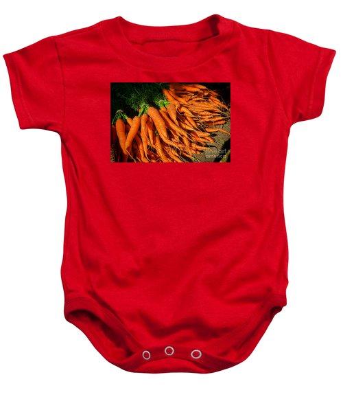 Organic Carrots Baby Onesie