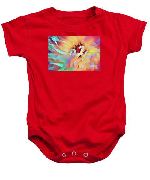 Party Time Dahlia Abstract Baby Onesie