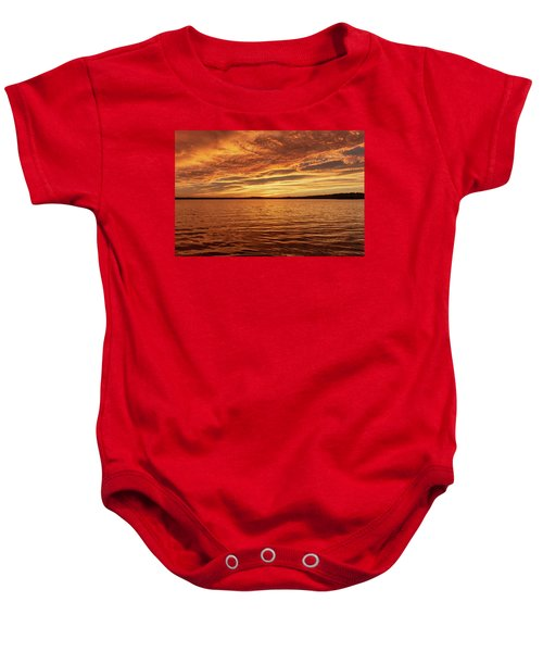 Percy Priest Lake Sunset Baby Onesie