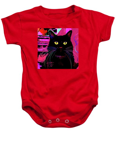 pOpCat Morticia Baby Onesie