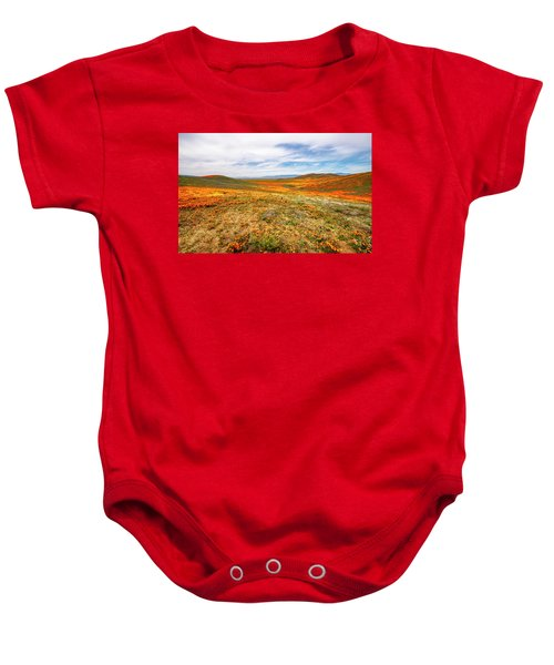 Poppies As Far As The Eye Can See Baby Onesie