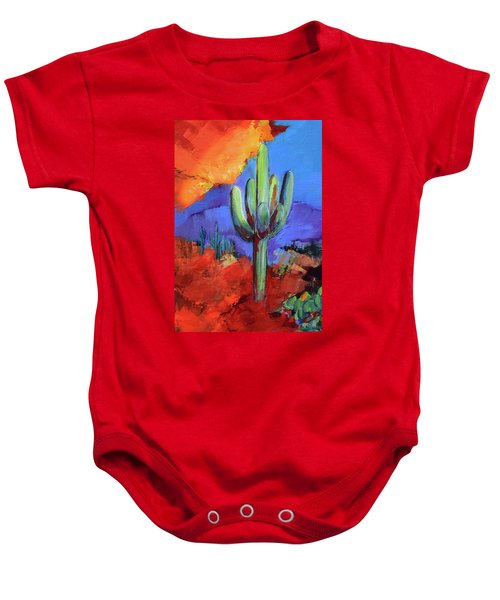 Under The Sonoran Sky By Elise Palmigiani Baby Onesie