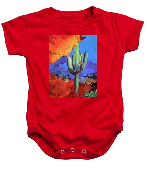 Under The Sonoran Sky By Elise Palmigiani Baby Onesie