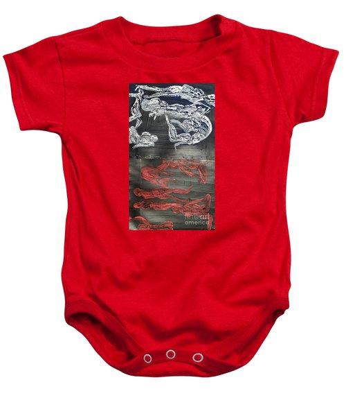 Red Strangles White Cells Baby Onesie