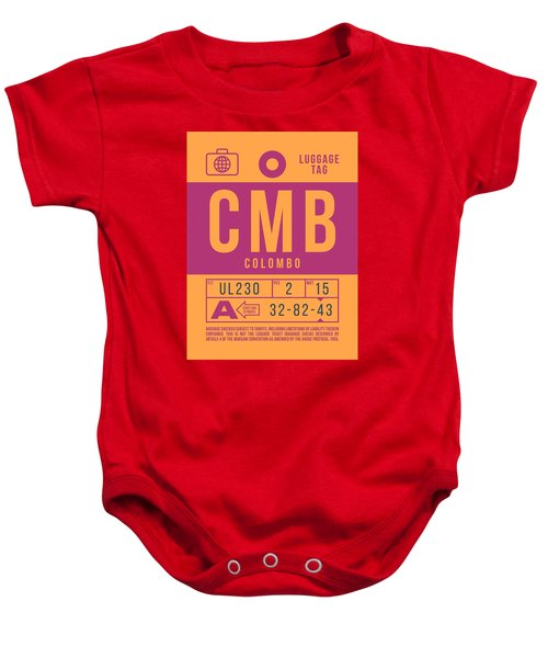 Retro Airline Luggage Tag 2.0 - Cmb Colombo Airport Sri Lanka Baby Onesie