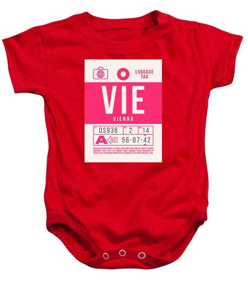 Retro Airline Luggage Tag 2.0 - Vie Vienna International Airport Austria Baby Onesie