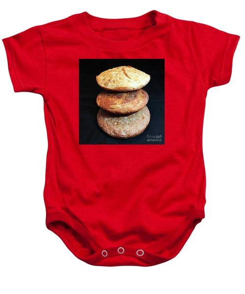 Sourdough Bread Stack 2 Baby Onesie