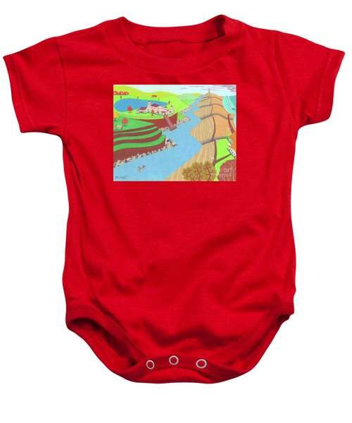 Spanish Wells Baby Onesie