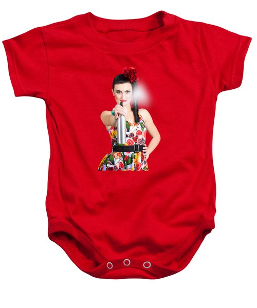Spray And Wipe Housewife Baby Onesie