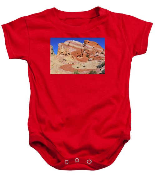 Baby Onesie featuring the photograph Striped Rock by Mary Hone