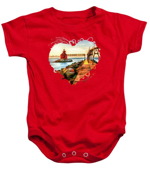 Sturgeon Bay Canal Pierhead Light Baby Onesie