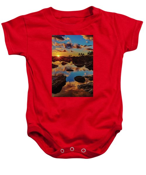 Baby Onesie featuring the photograph Sunset Reflections by John Bauer