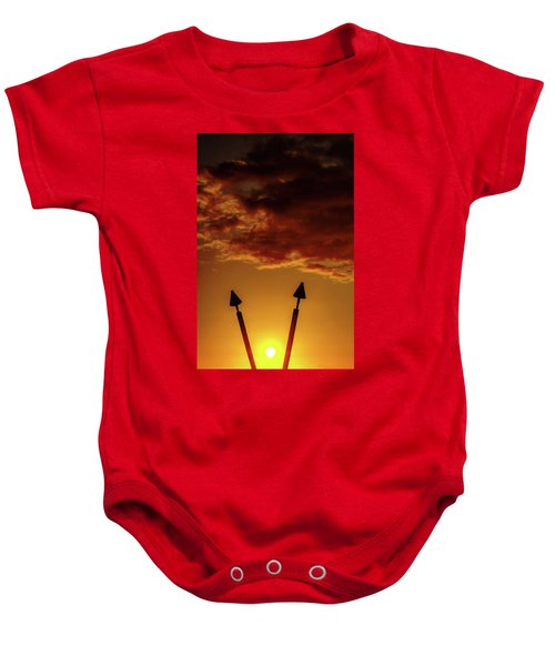 Baby Onesie featuring the photograph Sunset V by John Bauer