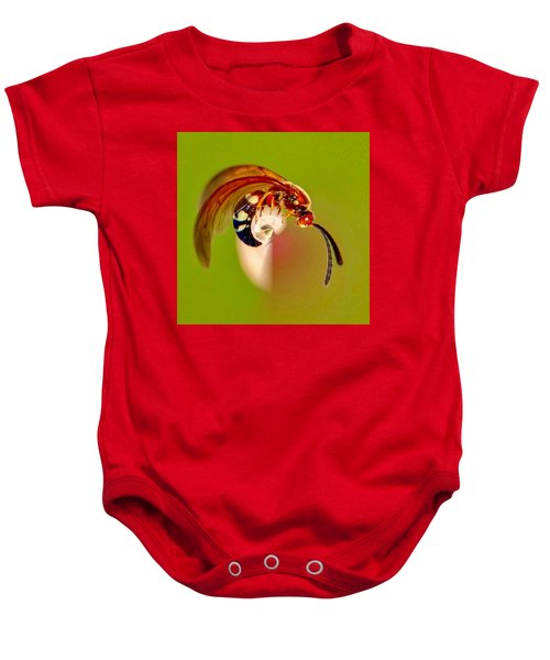 Swirly Wasp Baby Onesie