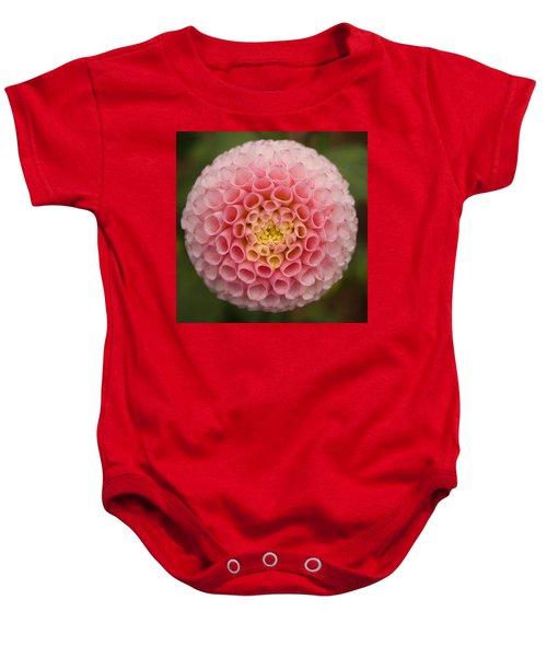 Symmetrical Dahlia Baby Onesie