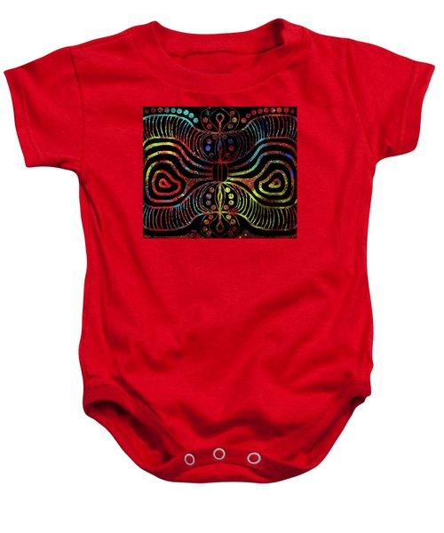 Under The Sea Digital Patterns Of Life Baby Onesie