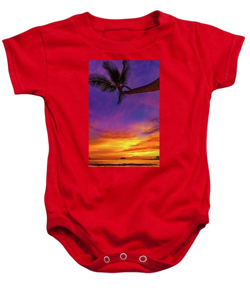 Baby Onesie featuring the photograph Vibrant Kona Inn Sunset by John Bauer