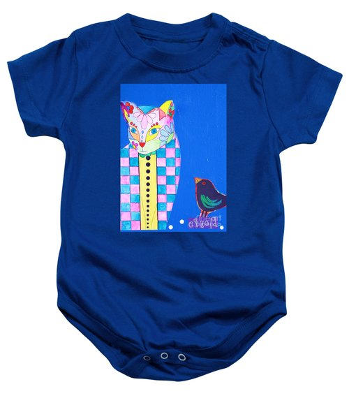 Checkered Cat Baby Onesie