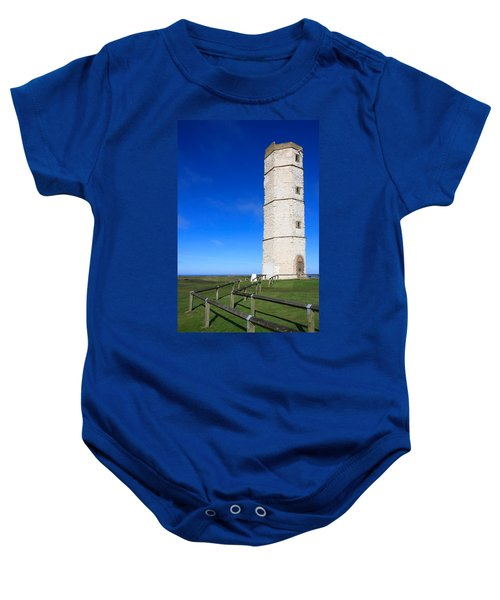 Flamborough Old Lighthouse Baby Onesie