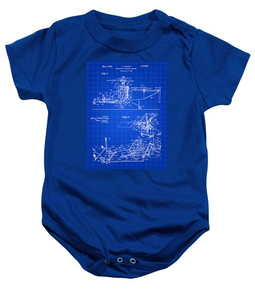 Helicopter Patent 1940 - Blue Baby Onesie