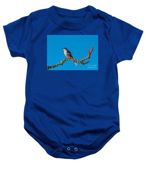 Northern Mockingbird Baby Onesie by Robert Bales