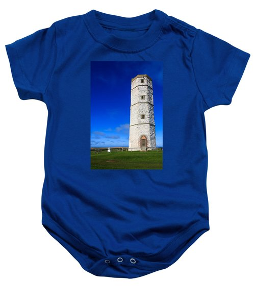 Old Lighthouse Flamborough Baby Onesie
