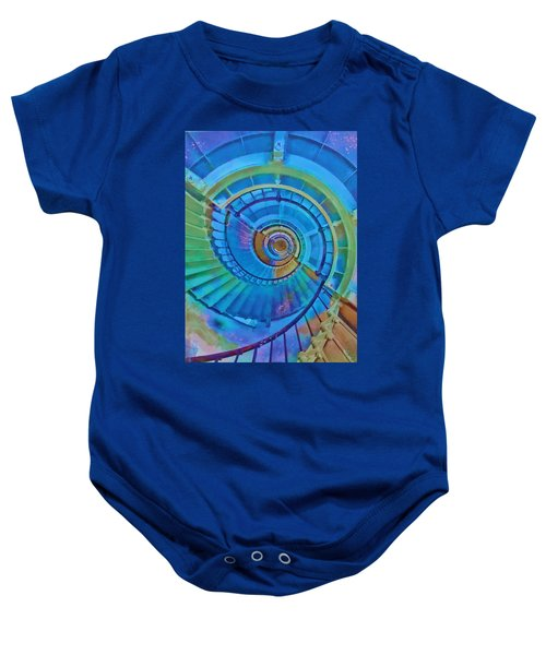 Stairway To Lighthouse Heaven Baby Onesie