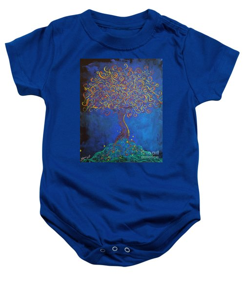A Tree Of Orbs Glows Baby Onesie