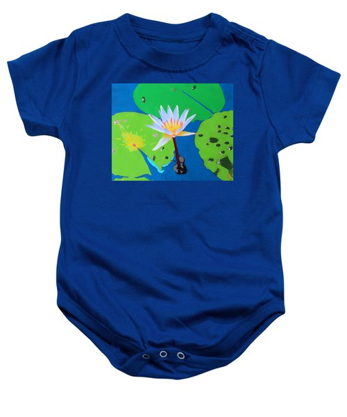 A Water Lily In Its Pad Baby Onesie
