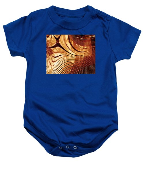 Abstract Artwork Gold 2 Baby Onesie