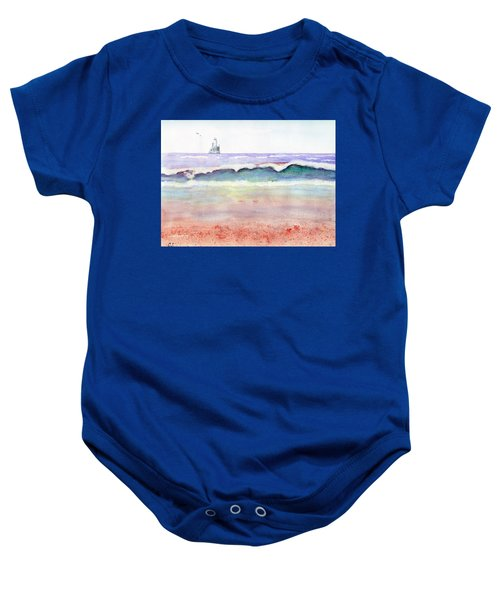 At The Beach Baby Onesie