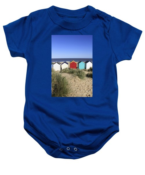 Southwold Beach Huts Uk Baby Onesie