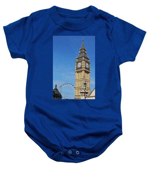Big Ben And London Eye Baby Onesie