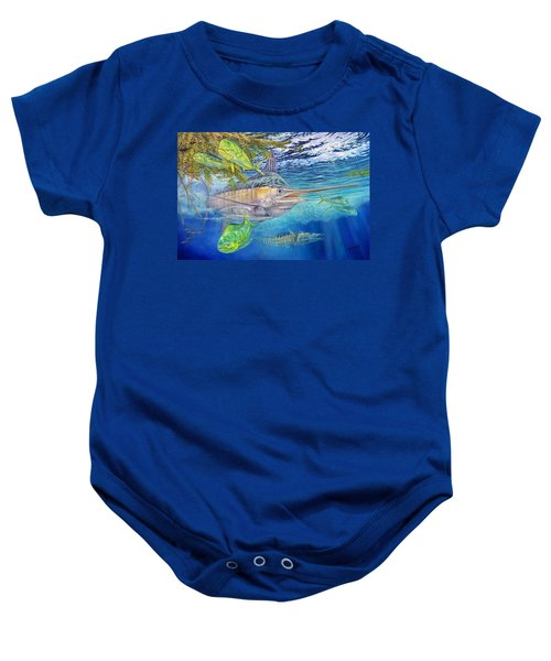 Big Blue Hunting In The Weeds Baby Onesie