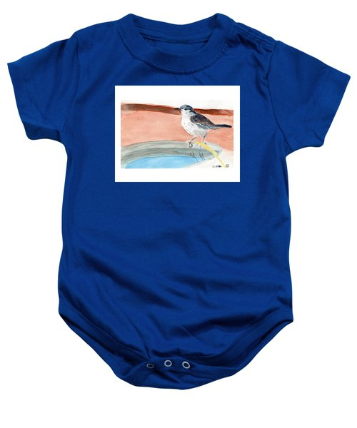 Bird Bath Baby Onesie