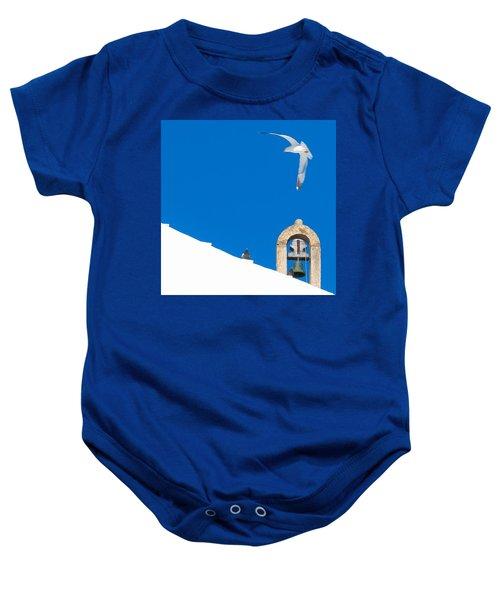 Blue Gull Baby Onesie