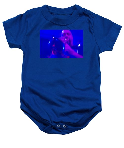 Baby Onesie featuring the photograph Blue Mood by Alex Lapidus